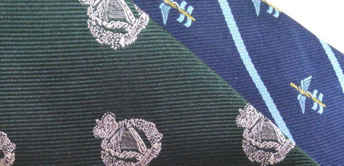 bespoke regimental military ties