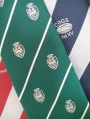 custom woven rugby club ties