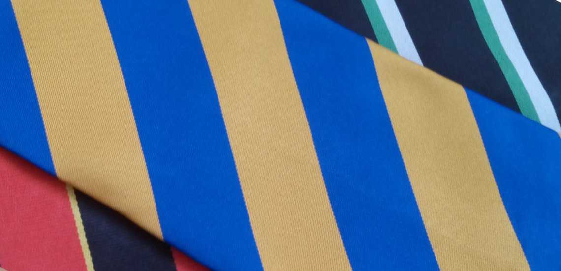 bespoke school ties with stripes